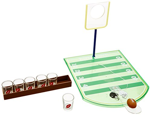 Game Night 326126-GB Shot Glass Drinking Football Game (6 Piece), Green -