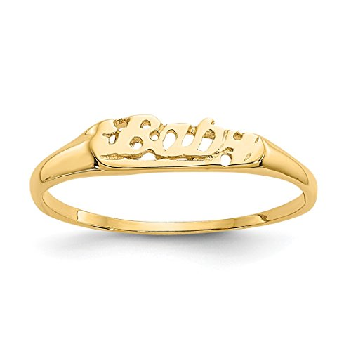 ICE CARATS 14kt Yellow Gold Baby Band Ring Size 2.00 Fine Jewelry Ideal Gifts For Women Gift Set From Heart