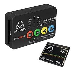 Atomos Ninja Star Pocket-Size ProRes Recorder & Deck with Atomos 64GB C-Fast Card