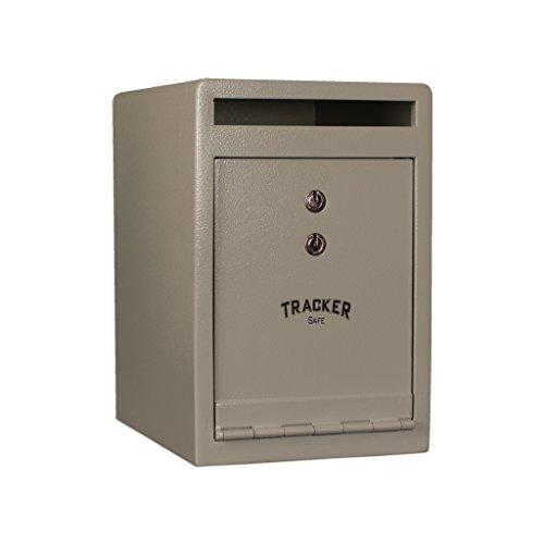 (Tracker Safe DS120810-K Steel Deposit Safe, Key Lock, White/Cream Powder Coat Paint, 0.55 cu. ft.)