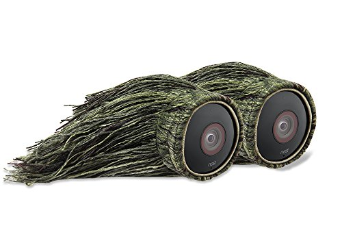 Ghillie Skin Compatible with Nest Cam Smart Security - 100% Wire-Free Cameras — by Wasserstein (2 Pack)