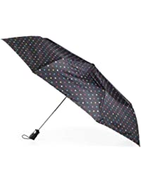 """Umbrella Auto Golf Size -- 55"""" Extra Large Coverage, Push Button Automatic Open with Carry Bag (Polka Dot)"""