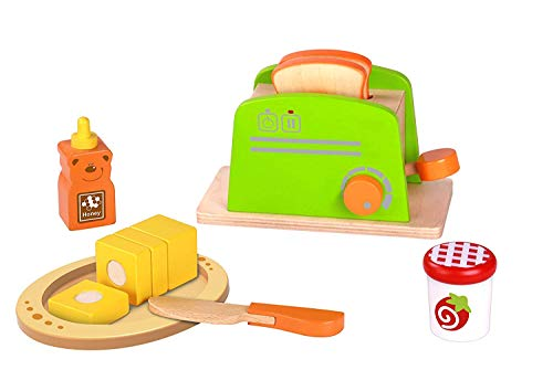 Pidoko Kids Toy Kitchen Accessories - Pretend Play Appliances - Toaster Set (11 Pieces) (Play Toaster Pretend)