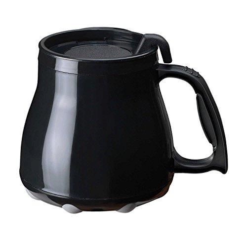 Low Rider No Tip Desk Mug, Coffee Mug, Made in America (Black) ()