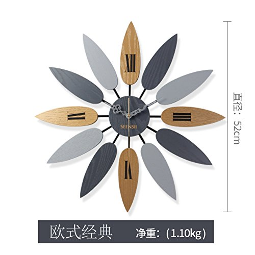 Homestyles Living Room Table - Imoerjia Creative Wall Clock Living Room Atmosphere Clock European Style Clock, Home-Style Table, Continental
