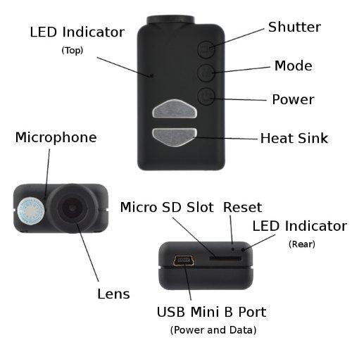 Mobius ActionCam 1080p HD Camera With Dash Cam Kit (V3 / 820 mAh / Lens A / 32GB)