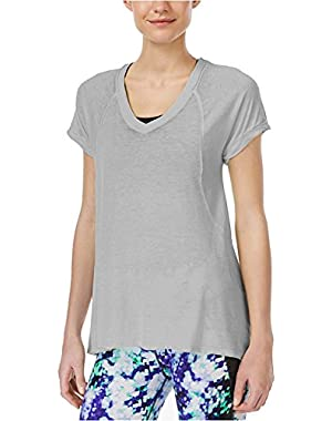 Calvin Klein Performance Women's Short Sleeve Seamed Burnout T-Shirt