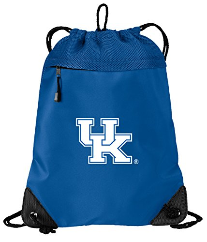 Broad Bay OFFICIAL University of Kentucky Drawstring Backpack Kentucky Wildcats Cinch Bag - COOL MESH & MICROFIBER by Broad Bay