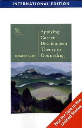 Applying Career Development Theory to Counseling, International Edition by Richard Sharf (2009-03-15) pdf