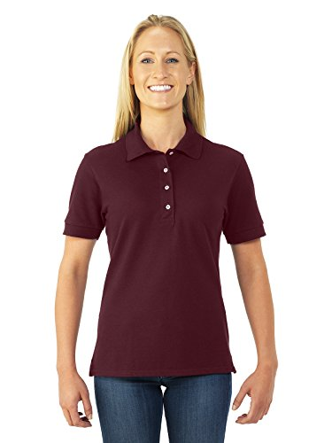 Jerzees Womens Cotton Pique Polo (440W) -MAROON -S