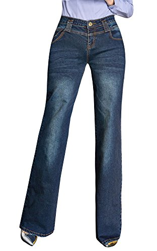 Runcati Womens Jeans Straight Leg Boot Cut Flared Stretch Denim Pants