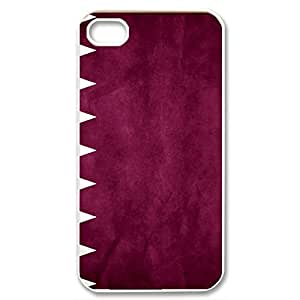 good case Custom Qatar Flag Protective Case for iphone 5c (White 102146)