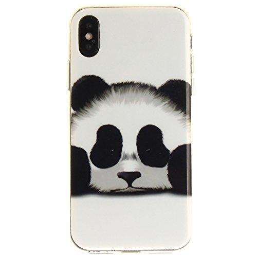 Téléphone Scratch Fit Résistant X Slim Motif Cas Hozor Peint Apple Souple Cas Transparent Couverture Silicone iPhone De En panda Bord TPU De Arrière Antichoc Protection HfZxOqwF
