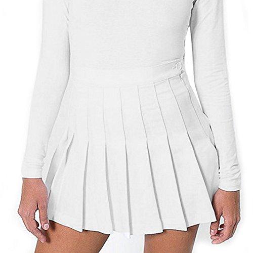 Taille Haute Mini Jupes Plisses Mxssi Robe Blanc Fille Sexy Femmes Mince WRxpAgUS