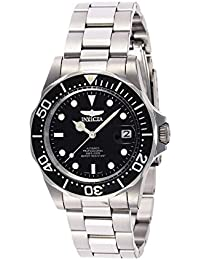 Men's 8926 Pro Diver Collection Automatic Watch, Silver-Tone/Black Dial/Half Open Back