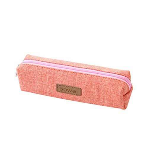 Price comparison product image Pencil Case for Kids, Amiley Solid Color Pocket Bag Purse Pen Box Pencil Bag Pourch Holder Best Gifts for Girls (Pink)