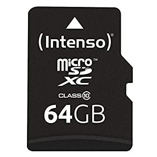 Intenso 3413490 64GB Class 10 Micro SD Card + SD Adapter
