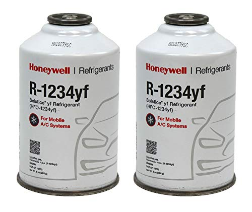 DiY Parts Honeywell R1234YF AC Refrigerant for Mobile Systems Solstice  HFO-1234YF (2) 8oz Cans
