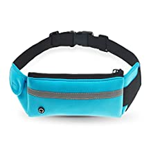 Refoss Running Waist Pack, Waterproof Fanny Pack, Expandable Sport Belt with Water Bottle Holder, Great for Biking, Hiking, Travel and Outdoor Activities