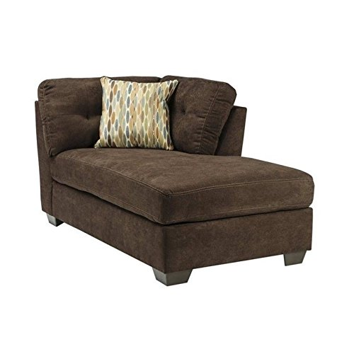Ashley delta city right corner chaise lounge in chocolate for Ashley chaise lounge sofa
