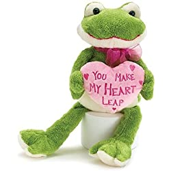 "Burton and Burton Sammi The Frog ""You Make My Heart Leap"" Valentine Plush"