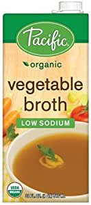 Pacific Foods Organic Vegetable Broth, Low Sodium,32 Oz,2 Pack by Pacific Foods