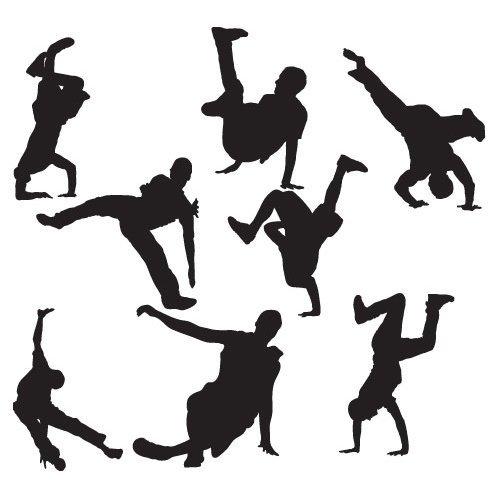 etiqueta de la pared de descanso bailarines paquetes - arte de la pared de danza - 30 cm de altura * Auto W