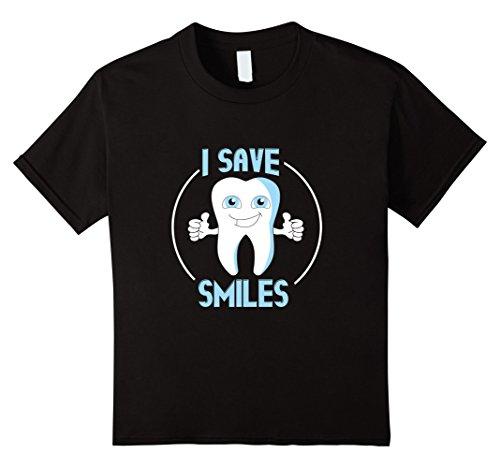 unisex-child I Save Smiles Dental Hygienist,Dentist Assistant T-Shirt 6 Black