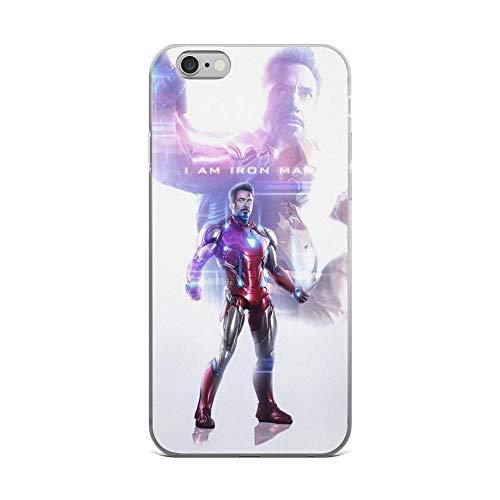 iPhone 6 Plus/6s Plus Pure Anti-Scratch Case Iron-Man The Legend Tony-Stark Stan Lee Avengerss Movie Shield Comic Superhero