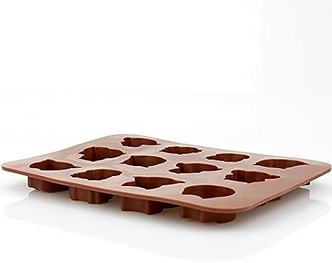 Sungpunet 2pcs Tre Foglie Agrifoglio taglierina Plunger Cake Decorating Fondente Strumenti di goffratura Multicolore