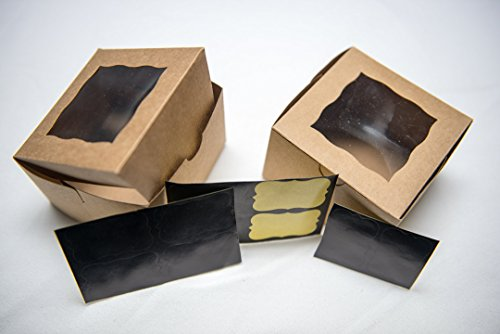 Paper Pastry Boxes (Bakery Boxes with Window, Small 4x4x2.5