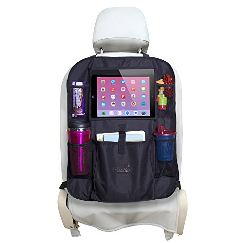 Mom's Besty Car Back Seat Organizer for Kids and Toddlers - Touch Screen Tablet Holder for Android & iOS Tablets - Multipurpose Use as Auto Seat Back Protector, Kick Mat, Car Organizer by Mom's Besty (Image #7)