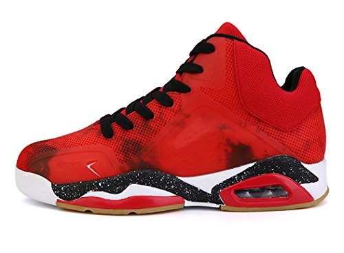 No.66 TOWN Men's Air Shock Absorption Running Tennis Shoes Sneaker Basketball Shoes Size 9.5 Red