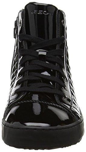 Geox J Kalispera F, Zapatillas Altas Unisex Adulto Negro (Black)