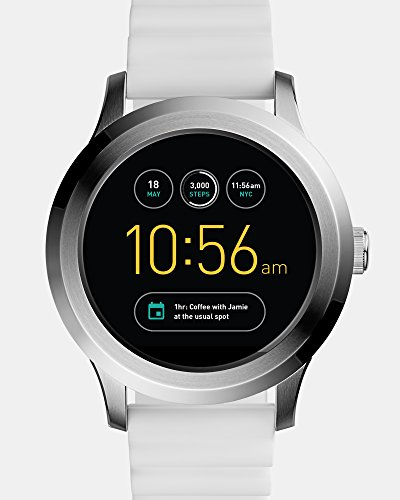 - Fossil Q Founder Gen 2 White Silicone Touchscreen Smartwatch FTW2115