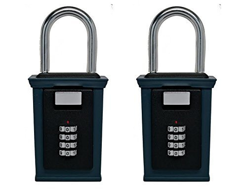 Secure-A-Key 6700W Select Access Key Storage Box with Set-Your-Own Combination Realtor Lock Box (Shackle Mounted 2 Pack)