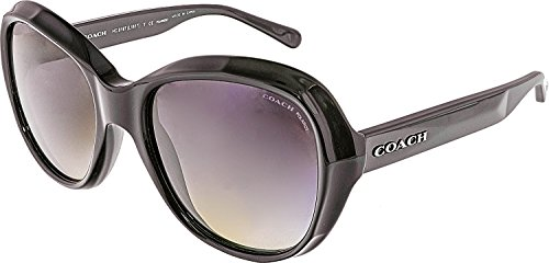 COACH 0HC8197 55mm Black/Grey Gradient Polarized Fashion - Sunglasses Polarized Coach