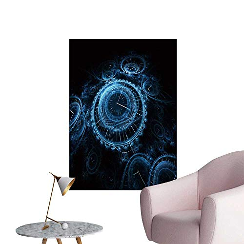 SeptSonne Wall Decals Render resembl m y Vintage timepieces Environmental Protection Vinyl,28
