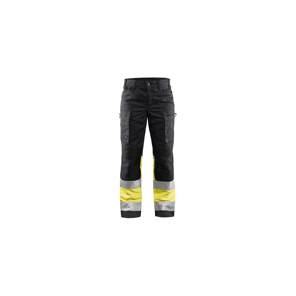 9036547b34 Blaklader Pantalon haute-visibilité stretch femme 8933 Marine/Jaune fluo