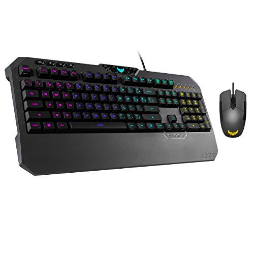 ASUS Gaming Battle Box – TUF K5 Mechanical Membrane RGB PC Gaming Keyboard + M5 Ambidextrous Gaming Mouse | Media…