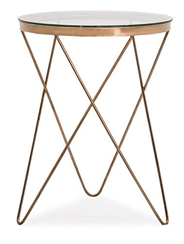 Amazon Com Steel Base End Table With Crisscross Legs End Table