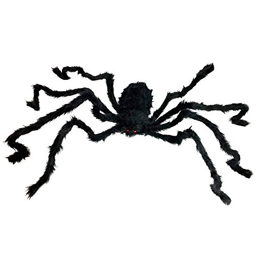 Giant Spider For Halloween Decorations - Large Size At Nearly 5 Feet - Great Party Decor & (Halloween Yard Decorations Crafts)