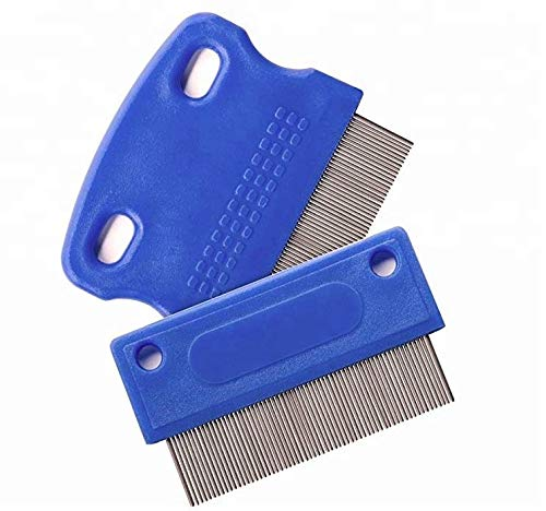 Dog Comb - Tear Stain Remover - Dog Eye Stain Remover - Dog Grooming Comb - Comb for Dogs - Gently Removes Mucus and Crust - Tear Stain Remover for Dogs - Pet Tear Stain Remover - Set of 2 ()