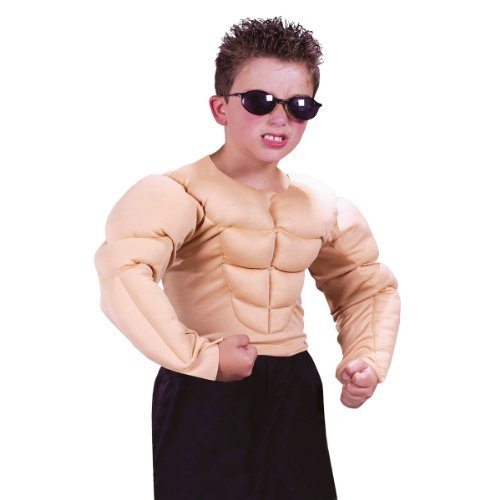 Muscle Man Shirt Child - Large (12-14) (Flash Muscle Costume)