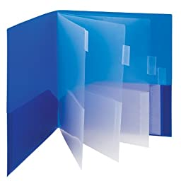 Smead Campus.org Poly Subject File Folder, 10 Pockets, Letter Size, Assorted Colors (89203)