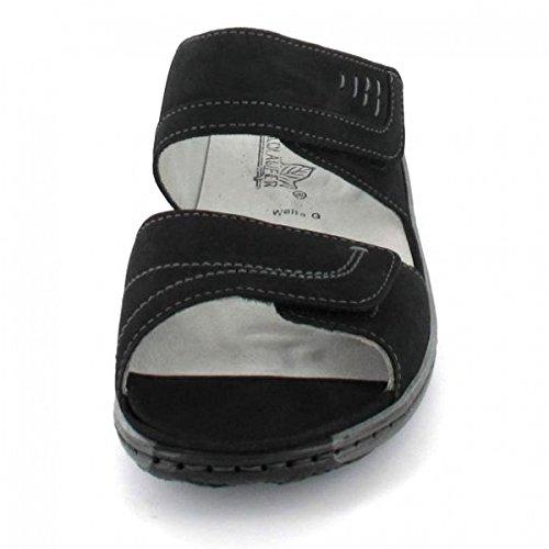 Waldläufer, 210501–191–001, garda pantolette (noir/noir)