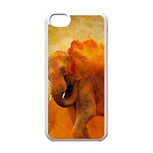 Bathing Elephant Unique Design Cover Case with Hard Shell Protection for Iphone 5C Case lxa#845127