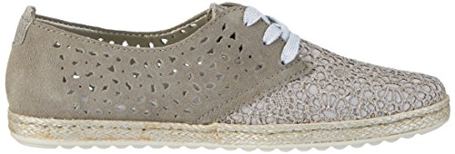 Rieker M1116, Zapatos de Cordones Derby para Mujer Gris (Staub-silber/dust/altsilber / 44)