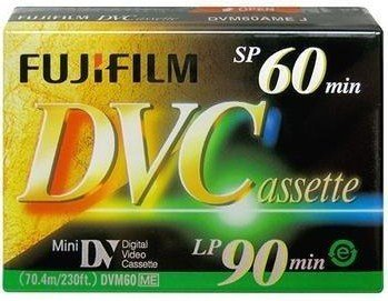 FujiFilm DVC 60 Min SP / 90 Min LP Mini DV Digital Video Cassette - 6 Pack (DVM60)