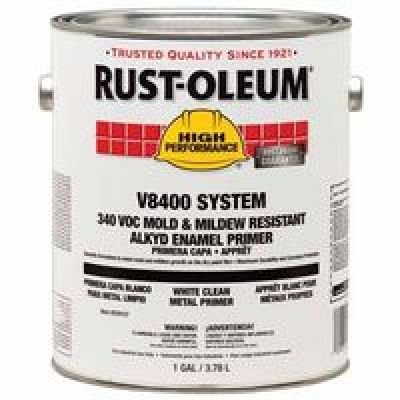 Rust-Oleum 259157 White High Performance V8400 System Food and Beverage Alkyd Enamel Primer, 1 gal Can (Pack of - Alkyd Stain